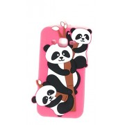 Oytra 3D Design Printed Soft Silicone Mobile Phone Covers & Cases For Samsung J2 (2017) / Galaxy J2 (2017), Pink Kung Fu Panda