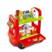 Set Fast Food jucarie pentru copii supermarket cu sunte lumini scanner Supermarket