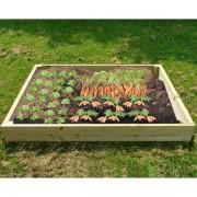 Wooden Raised Veg Beds Pack of 3 - 2 of 1m x 1m + 1 of 2m x 1m