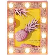 Rama foto cu led- Pink glitter