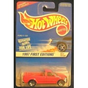 HOT WHEELS 1997 FIRST EDITIONS 2/12 RED FORD F-150 5 SPOKE WHEEL #513
