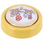 Lampa de veghe cu LED Sweet Push Light 0,3W ursulet, fara baterii, intrerupator prin apasare, pentru camera copiilor