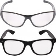 Aligatorr Wayfarer, Retro Square Sunglasses(Clear)