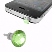 iPhone 4 iPad Hörlursuttag Smycke Kristall (Grön)