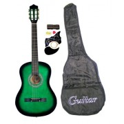 """38"""" Inch Student Beginners GREEN Acoustic Guitar with Carrying Case & Accessories & DirectlyCheap(TM"""