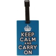 Tootpado Luggage Tag Keep Calm And Carry On - Light Blue (1i494) - Bag Travel Tags Luggage Tag(Blue)