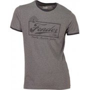 Fender T-Shirt Ringer Dark Grey S
