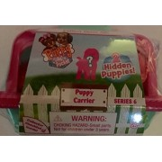 NEW 2017 Puppy In My Pocket Carrier Series 6 with 2 Hidden Flocked Puppies (Pink and Blue)