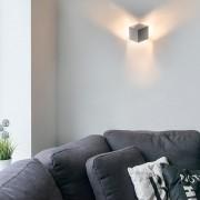 QAZQA Wall Lamp Cube Aluminium