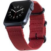 BarRan Correa para Apple Watch Sport 42mm 44mm, Nylon Quick Release Adapters Correa de Reloj para Apple Watch Sport,Series 5,4,3,2,1