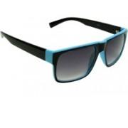 Mangal Brothers Retro Square Sunglasses(Black)