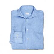 Dorani Business-Leinenhemd, 45 cm - Hellblau