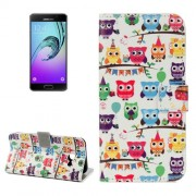 Samsung Galaxy A5 Case, (2017) / A520 Many Heads Owls Pattern Litchi Texture Horizontal Flip Leather Case with Holder & Card Slots & Wallet