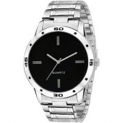 FD Black Dail Lorm 5 Silver Metal Strep Latest Designing Stylist Looking Professional Analog Watch For Men 6 month warranty By Fadoo Shop