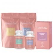 TummyTox Slim Detox es un programa para 20 días: 2x20 bolsitas de té + 10 bebidas de Draining Drink + 30 cápsulas de Happy Enzymes + cápsulas de Slimbiotic