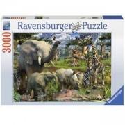 Пъзел Ravensburger 3000 елемента, Животните от джунглата, 7017070