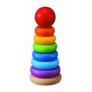 Turnulet pentru stivuit cu inele colorate
