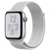 Apple Watch Nike+ Series 4 GPS + Cellular 40mm Alumínio Prateado com Bracelete Loop Nike Branca Polar