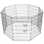 "i.Pet 36"" 8 Panel Pet Dog Playpen Puppy Exercise Cage Enclosure Play Pen Fence"