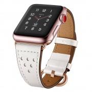 TECH-PROTECT Kožený pásek / řemínek pro Apple Watch 38mm / 40mm - TECH-PROTECT, MILANO WHITE