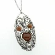 Órelindë - Zilveren Hanger met BloedCarneool