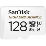 Card de memorie Sandisk High Endurance 128GB Micro SDXC Clasa 10 UHS-I U3 + Adaptor SD