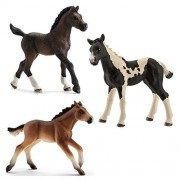 Schleich Toy Horse Foal Figurines Set - Horse Toy Figure Foals - Set of Three Horse Babies by SuePerior Living