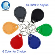 100pcs/bag RFID 13.56 MHz NFC Tag Token Key Ring IC tags M1 s50 Compatible RFID Keyfobs Different Color High Quality