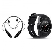 HBS 730 bluetooth headset and V8 Smart Watch|K87 Neckband bluetooth headset | Stereo Music Earphone Bluetooth Headset with Mic