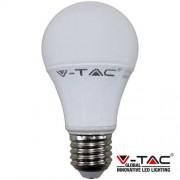 LED lámpa , égő , körte , x E27 foglalat , 7 Watt , meleg fehér
