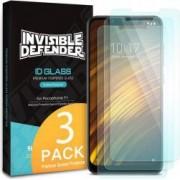 Folie sticla securizata Xiaomi Pocophone F1 9H 0,33 mm Ringke ID Glass Set 3 bucati