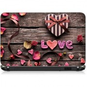 VI Collections LOVE EMBOSE IN WOODS pvc Laptop Decal 15.6