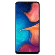 "Telefon Mobil Samsung Galaxy A20, Procesor Octa-Core 1.6GHz/1.35GHz, Super AMOLED Capacitive touchscreen 6.4"", 3GB RAM, 32GB Flash, Camera Duala 13+5MP, Wi-Fi, 4G, Dual Sim, Android (Albastru)"