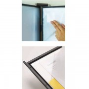 Set 10 buzunare A4 pentru display, Probeco QuickLoad - gri antracit