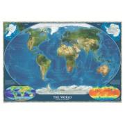 Wereldkaart Satelliet, 111 x 77 cm | National Geographic