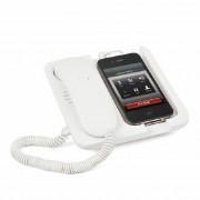 Balvi Witte Mobiele telefoonhouder en speaker Pronto!