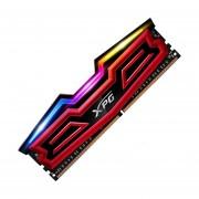 Memoria Ram DDR4 Adata XPG SPECTRIX D40 2400MHz 8GB PC4-19200 LED RGB (AX4U240038G16-SRS)-Rojo