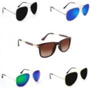 Sulit Aviator, Wayfarer Sunglasses(Brown, Black, Green, Blue, Black)