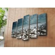 Tablou decorativ pe panza Sightly, 252SGH1338, 5 Piese, panza