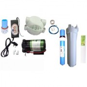 EarthRoSystem Service set:1 X Smps(24 v) 1x Solenoid Valve (Sv) 24 V 1 x pump(75 GPD) 4 x elbow 1 x pump head 1 taflon tape 1 prefilter 1 spun(pp) 5meter pipe membrane