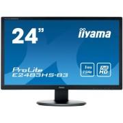 "Monitor Gaming TN LED Iiyama 24"" E2483HS-B3, Full HD (1920 x 1080), VGA, HDMI, DisplayPort, Boxe, 75 Hz, 1 ms (Negru)"