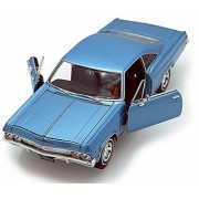 Welly 1965 Chevy Impala SS396 1/24 Scale Diecast Model Car Blue