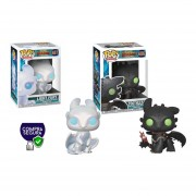 Chimuelo y Light Fury Funko pop como entrenar a tu dragon