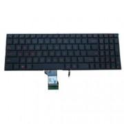 Tastatura Asus G501VW fara rama us iluminata rosie
