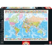Educa Map of The World Puzzle (1500 Piece)
