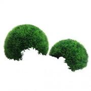 Finest-Filters Adorno de plástico para Acuario, diseño de Musgo para pecera (Verde Oscuro, Grande (21 cm)