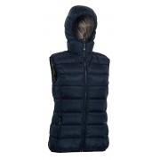 Warmpeace Yuba Lady - péřová vesta Barva: black/brown, Velikost: XL