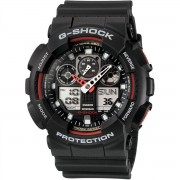Casio - GA-100-1A4ER - G-Shock - horloge - Mannen - Zwart - Kunststof Ø 51 mm