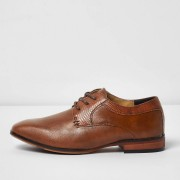 river island Boys Tan brown pointed brogue shoes (5)