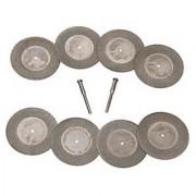 40mm Diamond Cutting Disc 5 pc Set Fits Rotary Mini Dremel Drills Metal Glass